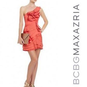 Bcbgmaxazria BCBG NWT coral jonesy dress 2